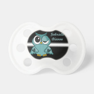 Girly Personalized Owl Pacifier