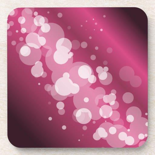 Girly Pink Abstract Circle Drink Coaster