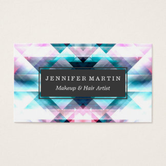 Girly Pink and Blue Abstract Geometric Pattern