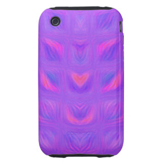 Girly Pink and Purple Abstract Tough iPhone 3 Cases