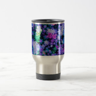 Girly Pink and Purple Floral Succulents Stainless Steel Travel Mug