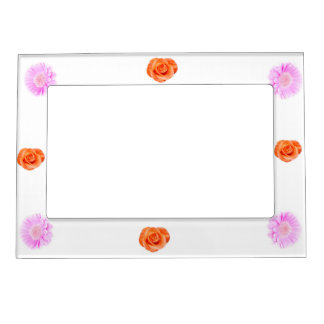 Girly pink and red flower 5x7 Magnetic Frame