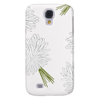 Girly Pink and White Flowers Pattern Galaxy S4 Case