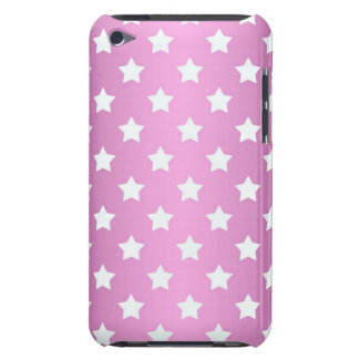 Girly Pink and White Stars Pattern iPod Case-Mate Case