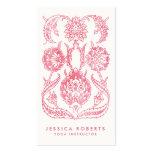 Girly Pink Art Nouveau Floral Designer Pack Of Standard Business Cards