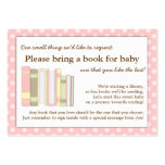 Girly Pink Baby Shower Book Insert Request Card Pack Of Chubby Business Cards