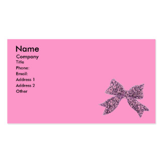 Girly Pink, Black and Bow Pack Of Standard Business Cards