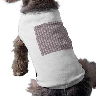 Girly Pink Black Modern Stripes Pattern Dog T-shirt