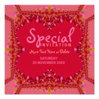 Girly Pink Boudoir Special Party Invitation