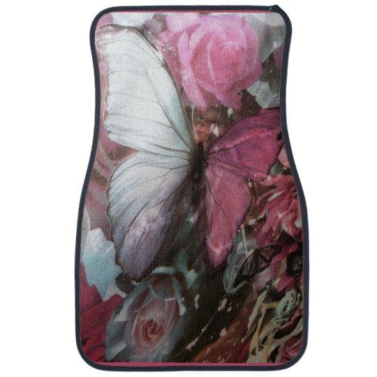 Girly Pink burtterfly Set of Car Mats Floor