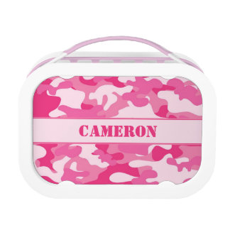 Girly Pink Camo (Camouflage) | Personalized Lunchboxes