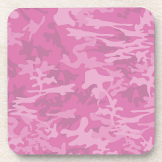 Girly Pink Camo Coasters