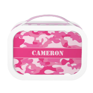 Girly Pink Camouflage (Camo) | Personalized Lunchboxes
