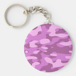 Girly Pink Camouflage Key Ring