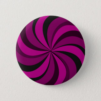 gIRLY pINK cANDY sWIRL 6 Cm Round Badge