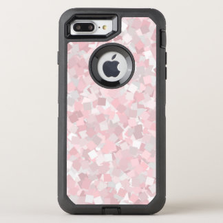Girly pink confetti design OtterBox defender iPhone 8 plus/7 plus case