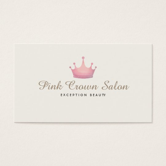 Girly Pink Crown Logo, Makeup Artist Beauty Salon