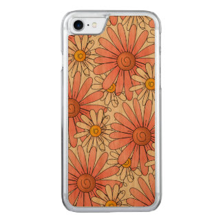 Girly Pink Daisies and White Daisies Carved iPhone 8/7 Case