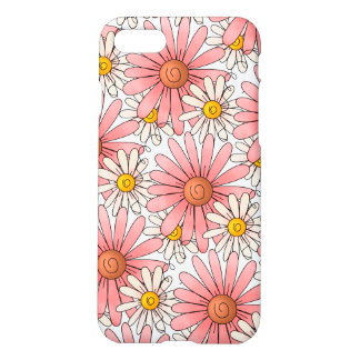 Girly Pink Daisies and White Daisies iPhone 8/7 Case