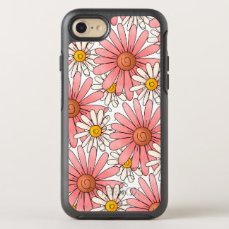 Girly Pink Daisies and White Daisies OtterBox Symmetry iPhone 7 Case