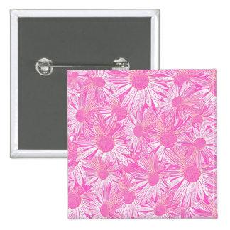 Girly pink daisies pin