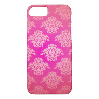 Girly Pink Damask Pattern Elegant Bohemian iPhone 8/7 Case