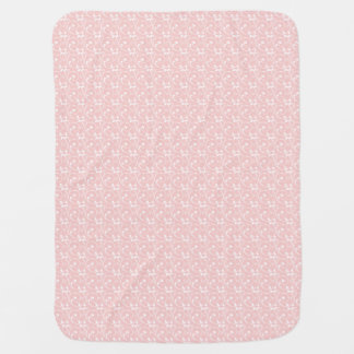 Girly Pink Delicat Vintage Lace Pattern Baby Blanket