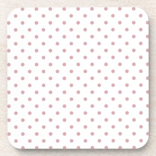 Girly Pink Dots Beverage Coasters