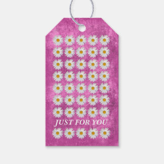 Girly Pink Floral Celebration Gift Tags