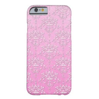 Girly Pink Floral Damask iPhone 6 case