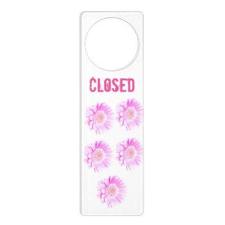 Girly pink flowers Closed Door Hanger