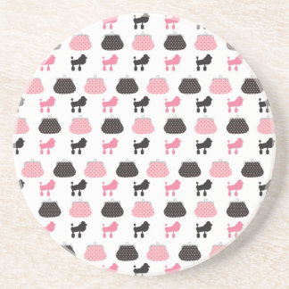 Girly Pink French Poodle Coaster