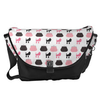 Girly Pink French Poodle Courier Bag