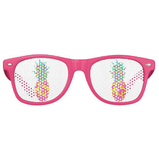 Girly Pink Geometric Triangles Pineapple