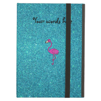 Girly Pink glitter flamingo turquoise glitter iPad Air Cover