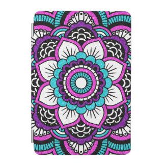 Girly Pink Glitter Floral Mandala iPad Mini Cover