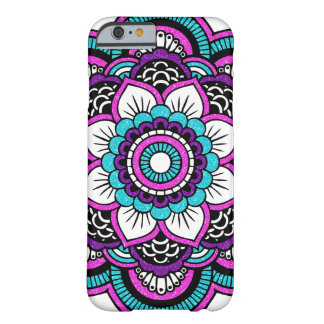 Girly Pink Glitter Floral Mandala iPhone 6 Case Barely There iPhone 6 Case