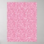 Girly Pink Glitter Printed