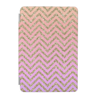 Girly Pink & Gold Chevron iPad Smart Cover iPad Mini Cover