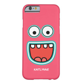 Girly Pink Googly Eye Funnyface Smiley Barely There iPhone 6 Case
