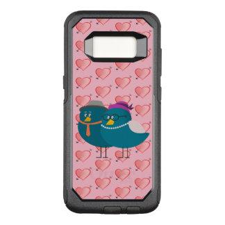 Girly Pink Hearts Cartoon Birds Funny Retro Cute OtterBox Commuter Samsung Galaxy S8 Case