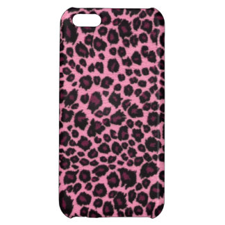 Girly Pink Leopard Cheetah Print iPhone 5C Cover