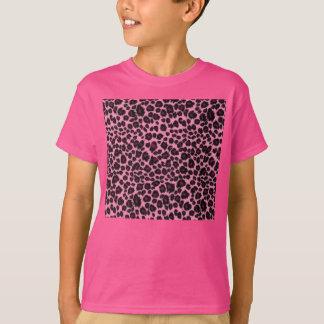 Girly Pink Leopard Cheetah Print T-Shirt