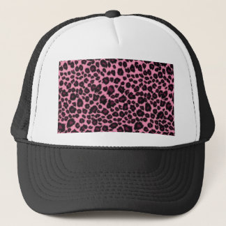 Girly Pink Leopard Cheetah Print Trucker Hat
