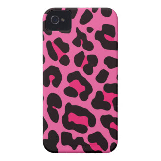 Girly Pink Leopard Print iPhone 4 Case
