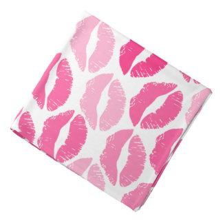 girly pink lips bandana