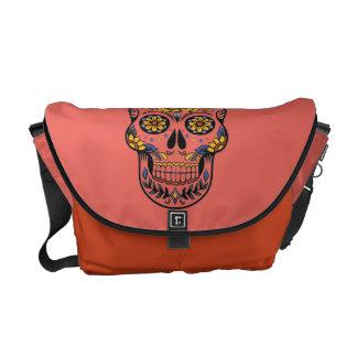 GIRLY PINK MEXICAN SKULL, DIA DE LOS MUERTOS BAG COURIER BAG