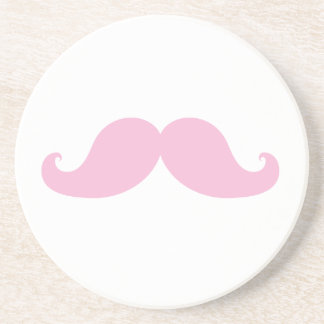 Girly Pink Mustache Coasters