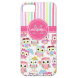 Girly Pink Owls Cute Pattern PersCustomize Product iPhone 5 Covers