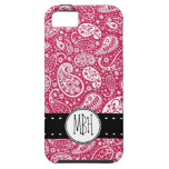 Girly PINK Paisley Pattern with Monogram